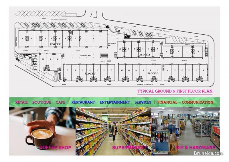 Beribi - The Walk 4 Storey Shop House For Sale! in Brunei Muara