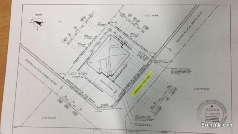 Proposed Double storey Detached house on lease land for Sale in Brunei Muara