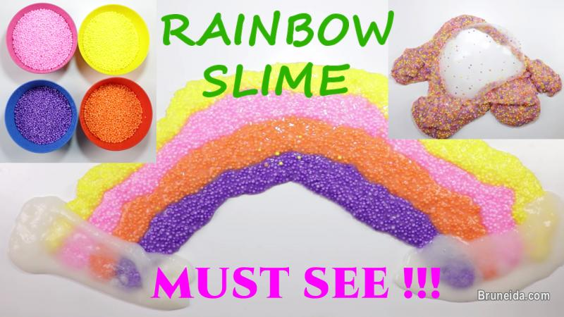 Picture of Satisfying & Relaxing Rainbow Slime Coloring Floam - DIY Slime