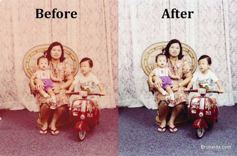 Faded/Damaged Photo Restore in Belait