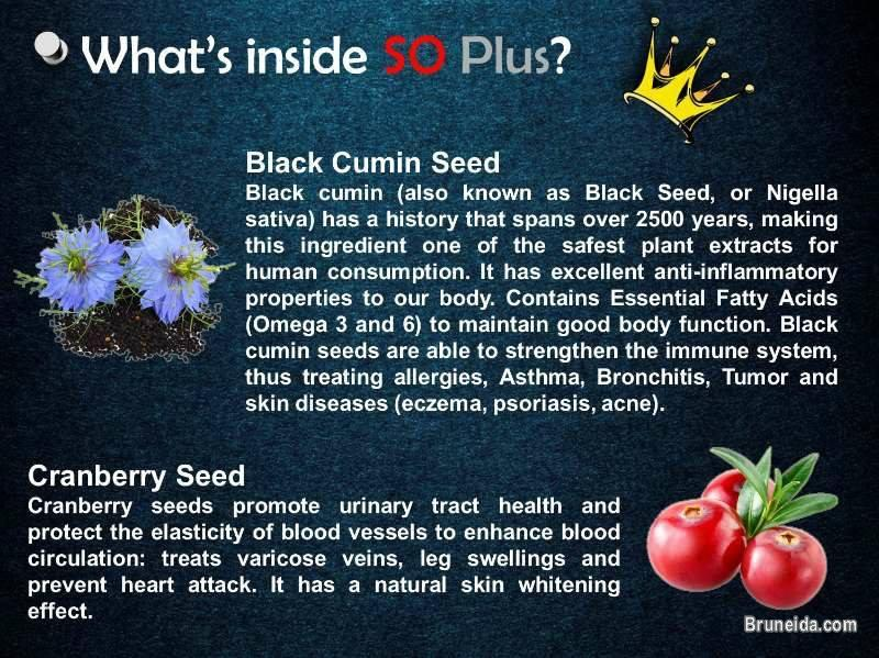 SO Plus - Your one nutraceutical drink for better health. in Brunei