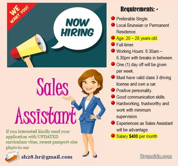Picture of SALES ASSISTANT AND CASHIER WANTED