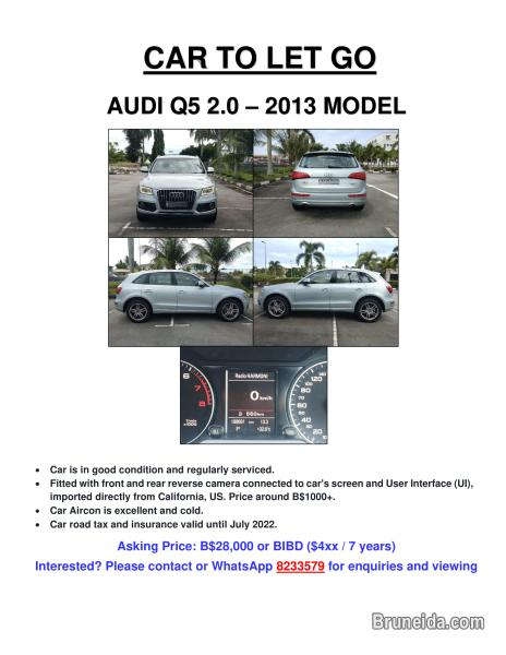 Picture of AUDI Q5 2. 0 (2013 Model) To Let Go!