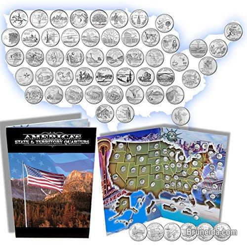 Picture of Complete 50 Uncirculated US State ('99-'08) Quarter Collection