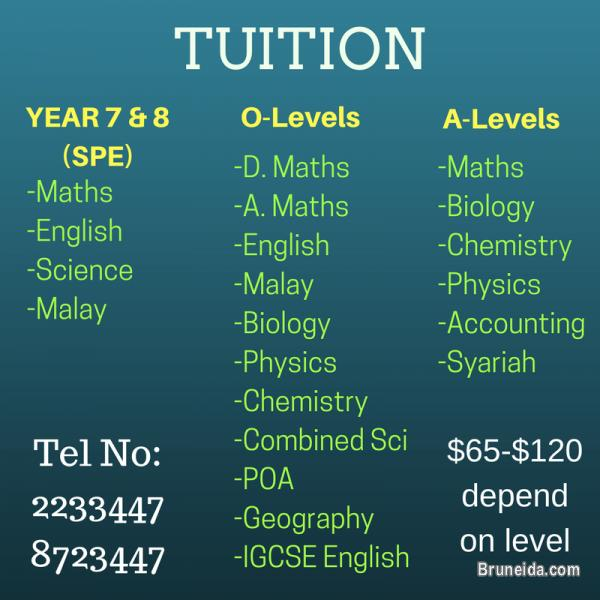 Picture of OFFER/GIVE TUITION to SPE, O level, A level