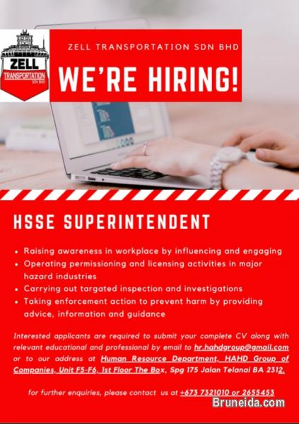 Picture of URGENT HIRING FOR HSSE SUPERINTENDENT