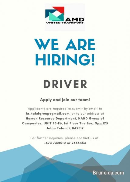 Picture of URGENT HIRING FOR DRIVER