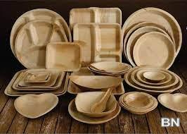 Picture of Palm leaf plates biodegradable and eco friendly