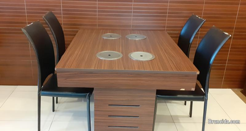 Pictures of Shabu shabu table with chairs