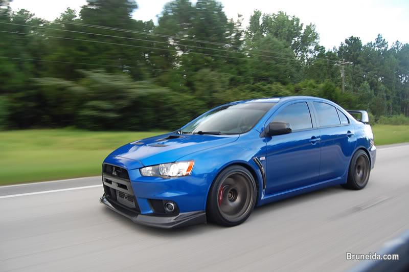 Picture of Rare Blue MITSUBISHI LANCER EVO X