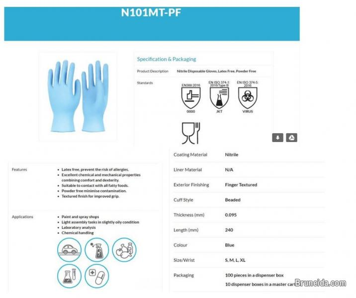 Picture of Disposable Nitrile Gloves
