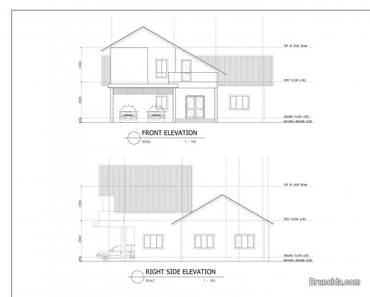 Picture of Proposed one and a half storey detached house at kampong selayun.