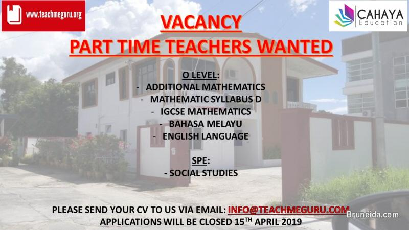 Picture of Part Time Teachers Wanted