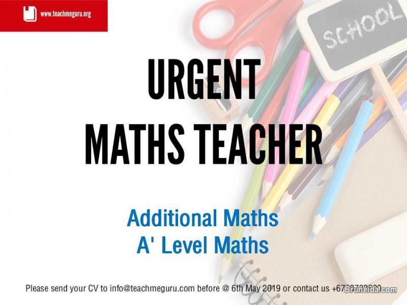 Picture of Now Hiring Maths Teacher