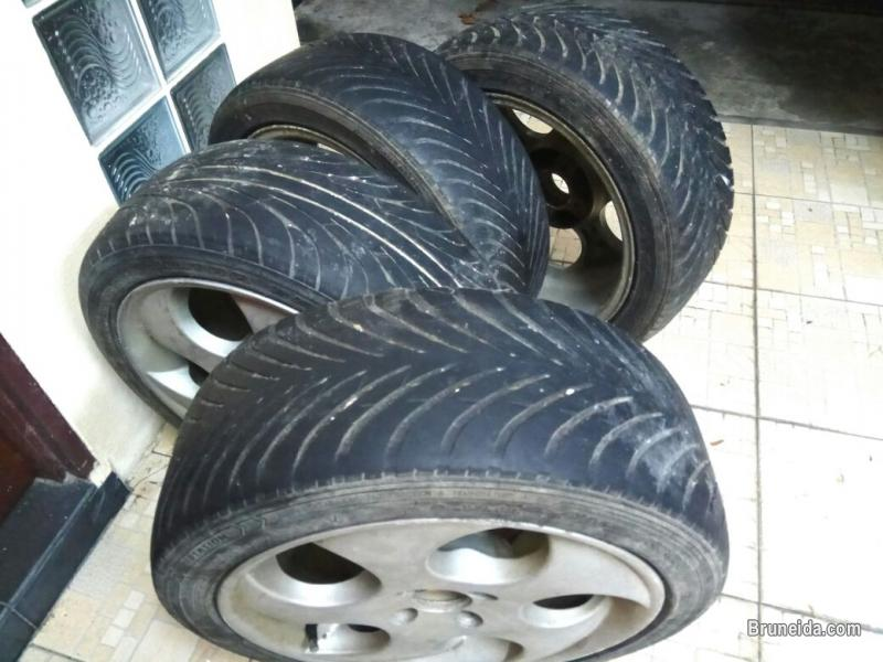 REM SPORT SIZE 16 PCD 100 WITH TYRE FOR SALE $250 NGEO