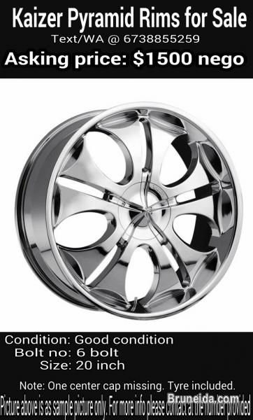 Picture of Kaizer 20'' rims for sale