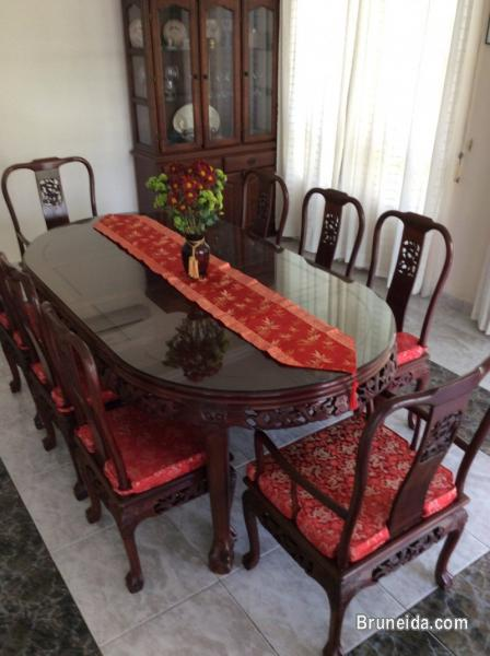 Picture Of Well Cared Rosewood Chinese Dining Set