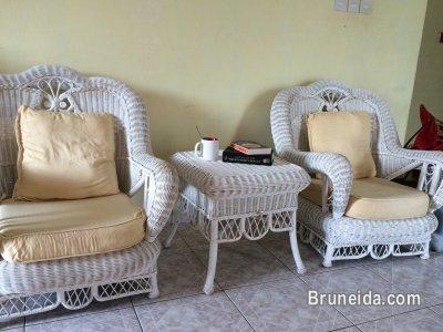 Picture Of 2 Ratan Chairs U0026 A Ratan Coffee Table