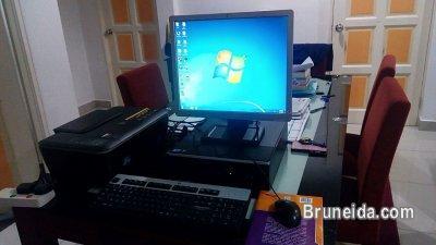 HP desktop + HP printer