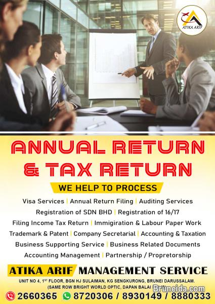 Picture of ANNUAL RETURN & TAX RETURN & MANAGEMENT SERVICES 8307245