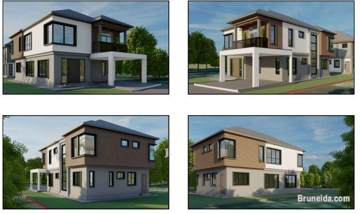 Pictures of TUTONG TOWN: TWO UNITS NEW MODERN DETACHED HOUSES 4B/4T