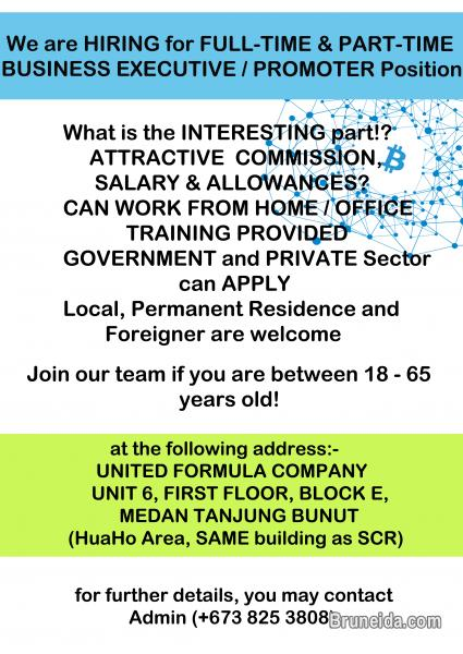 Picture of HIRING PART TIME / FULL TIME BUSINESS EXECUTIVE OR PROMOTER POSIT