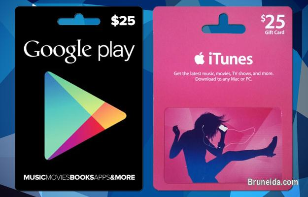 Picture of Itunes Card and Google Play Card for Sale