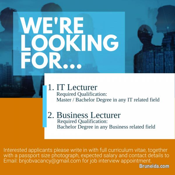Picture of VACANCY - IT Lecturer & Business Lecturer