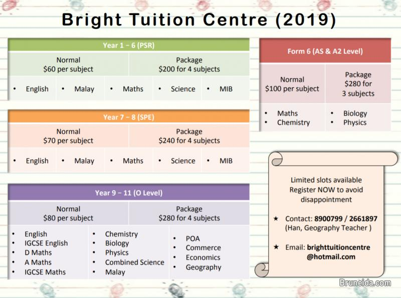 Picture of BRIGHT TUITION CENTRE 2018/ 2019 AVAILABLE NOW!