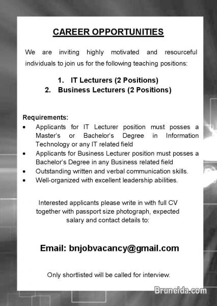 Picture of Vacancy - IT Lecturer