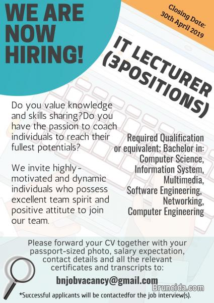 Picture of VACANCY - IT LECTURER [3 POSITIONS]