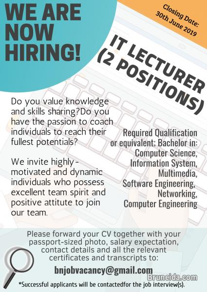 Pictures of IT Lecturer (2 Positions)