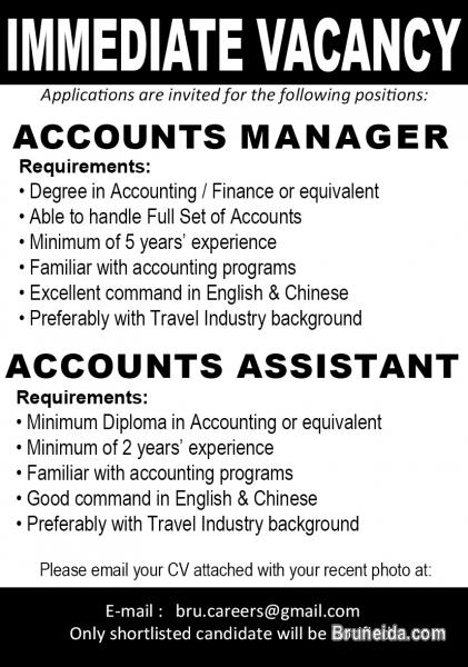 Pictures of Accounts Manager and Assistant