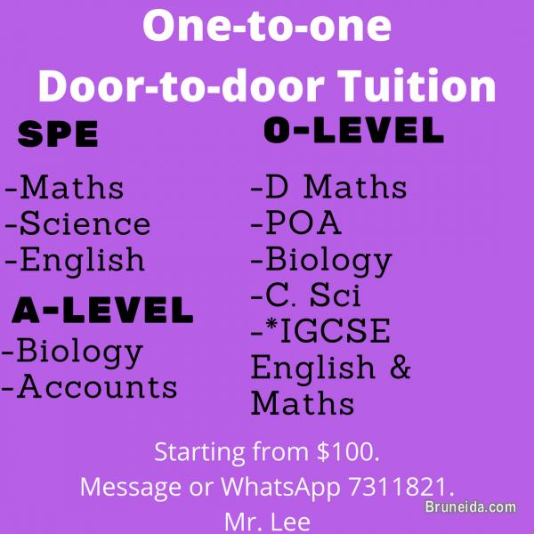 Picture of Offer/Give one on one tuition. Door to door tutor!