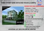3-Storey Semi Detached House for Sell (Proposed)