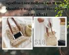 LACE HOLLOW SHOULDER BAG