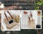 LACE HOLLOW SHOULDER BAG