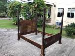 ANTIQUE BED FRAME & QUEEN MATTRESS