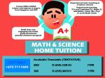 Math & Science Home Tuition