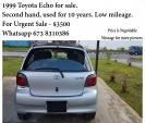 Silver Toyota Echo for sale