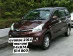 2014 Toyota Avanza manual for sale