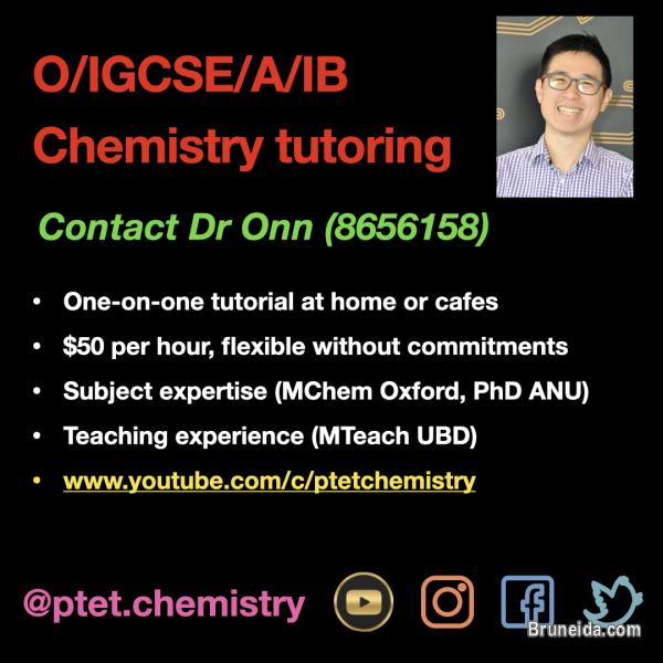 Picture of IGCSE/O/A/IB Level chemistry tutoring