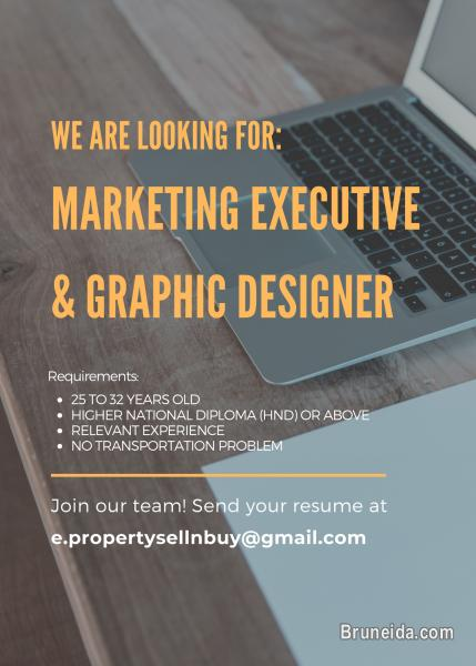 Picture of MARKETING EXECUTIVE AND GRAPHIC DESIGNER NEEDED