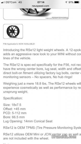 Used RSe12 Aston Mini 18'' Light Weight Rim FOR SALE - image 2