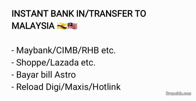 Picture of INSTANT TRANSFER available to any banks in Malaysia