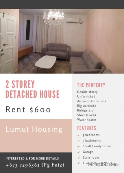 Picture of Lumut Kuala Belait, 2 storey Detached House for rent ($600)