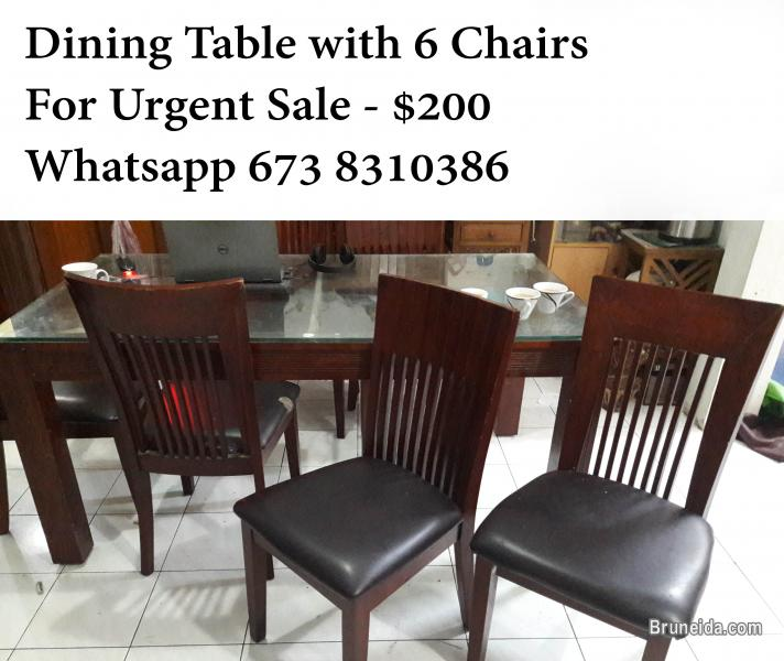 Exceptional Picture Of Dining Table With 6 Chairs For Urgent Sale