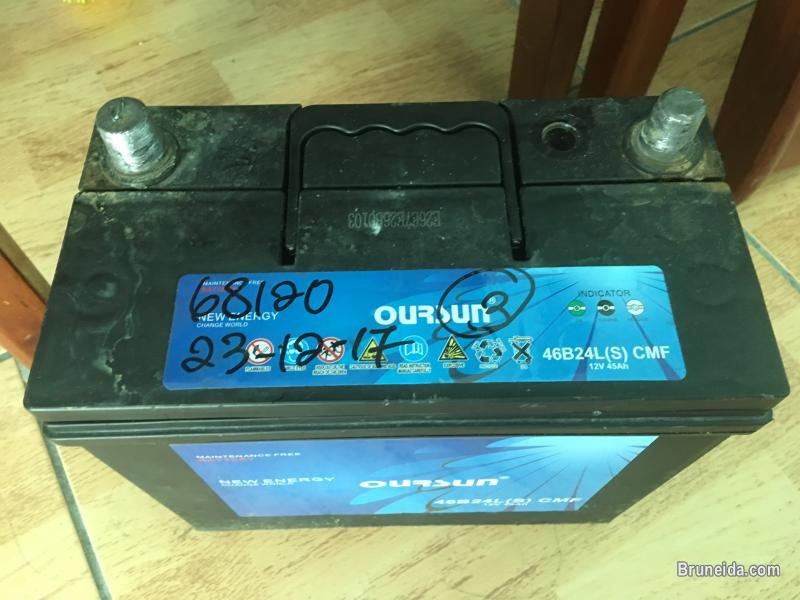 Picture of Car batery brand oursun 52B24L(S) 12V45AH still under waranty
