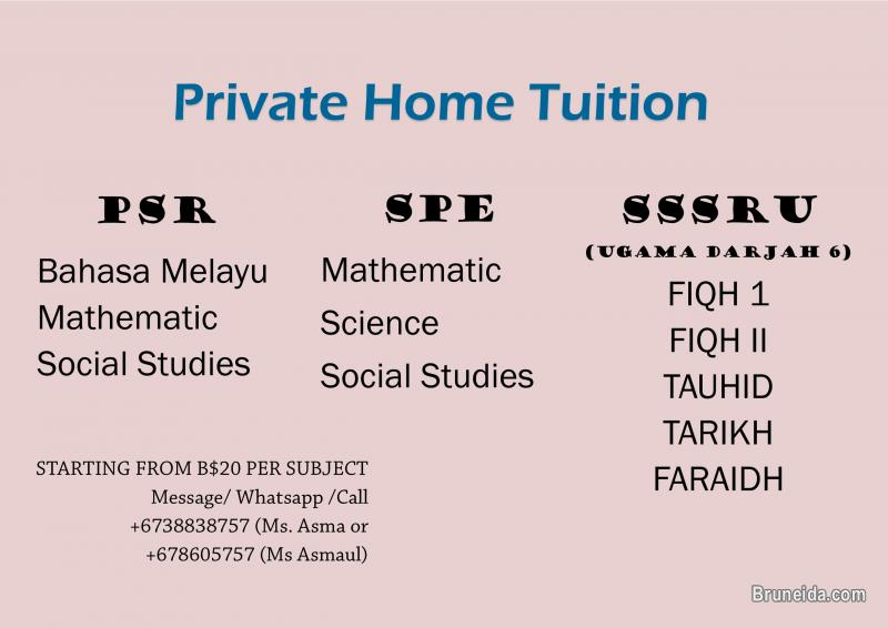 Picture of Private Home Tuition