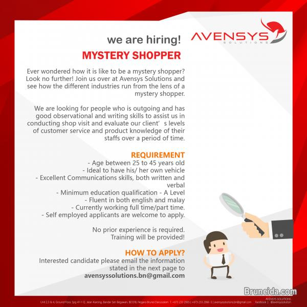 Picture of We are hiring Mystery Shoppers!